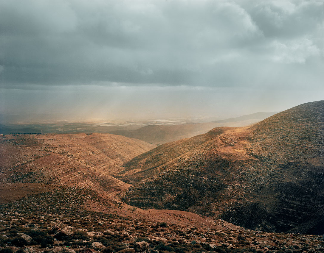 Towards the Jordan Valley, from the Judean Hills.<br/>West Bank, Area B – Palestinian civil control, Israeli military control.