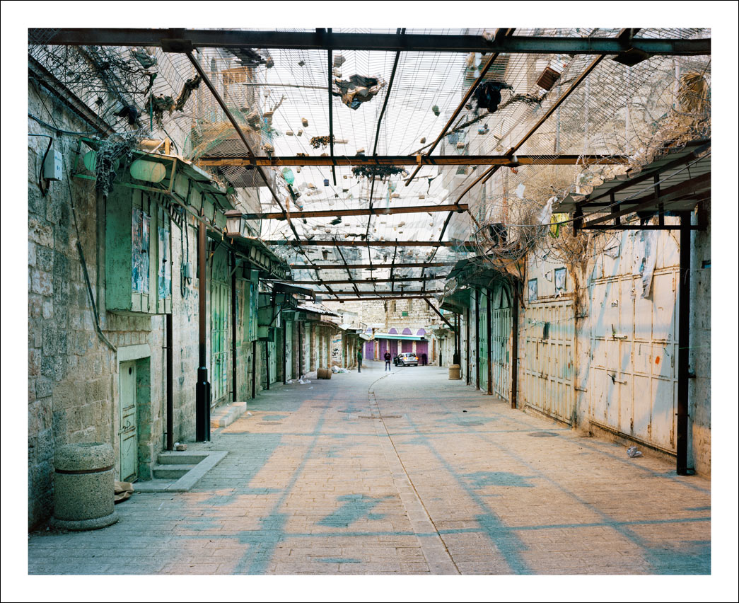 The Central Market. The Old City, Hebron.<br/> West bank.  H2 - full Israeli control over security - special security zone for central Hebron.